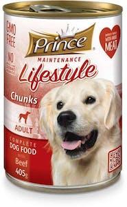 Prince Adult Dog Food Beef Can 405 g