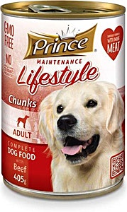 Prince Adult Dog Food Beef Can 405 g