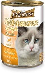 Prince Adult Cat Food Chicken & Turkey Can 415 g
