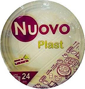Nuovo Plastic Plate 19 cm Small 24's