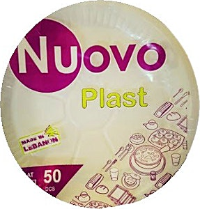 Nuovo Plastic Plate 26 cm Large  50's