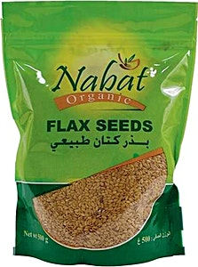 Nabat Organic Flax seeds - Golden 500 g