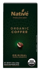 Native Organic Ground Coffee 250 g
