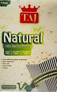 Taj Microwave Popcorn Natural 3 Bags 240 g